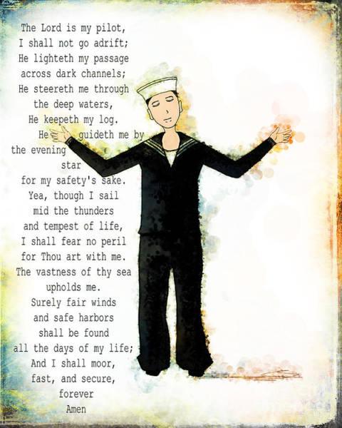Digital Art - Sailor's Prayer by Christina VanGinkel