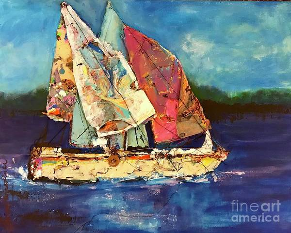 Painting - Sails Away by Sherry Harradence