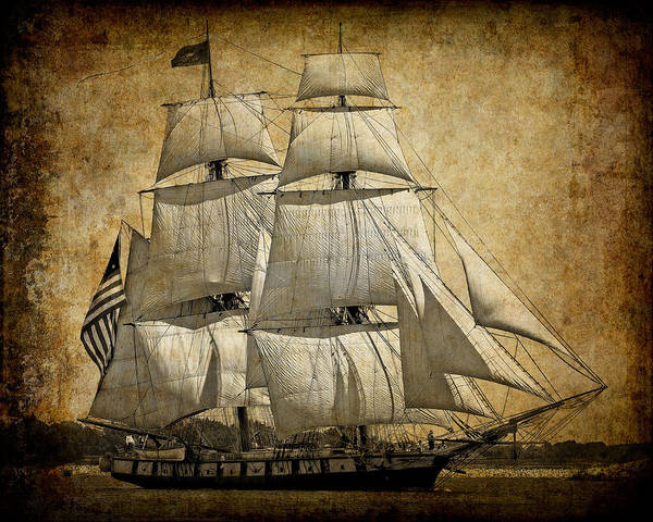 Uss George Washington Wall Art - Digital Art - Sails Full And By by Daniel Hagerman