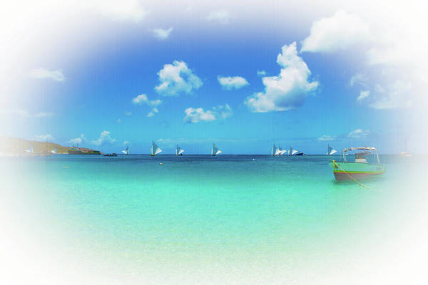 Photograph - Sails In The Wind Sandy Ground Anguilla by Ola Allen