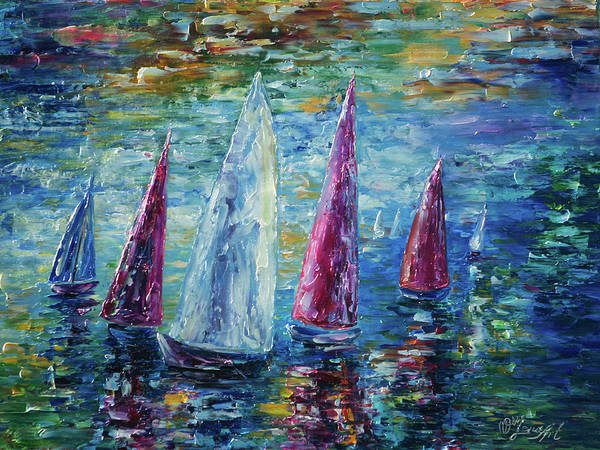 Digital Art - Sails To-night by OLena Art Brand