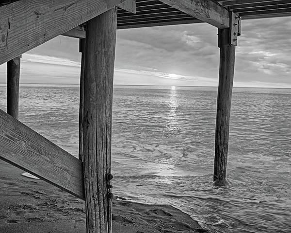 Photograph - Sailsbury Beach At Sunrise Salisbury Ma Black And White by Toby McGuire