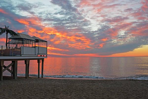 Photograph - Sailsbury Beach At Sunrise Salisbury Ma Pier Clouds by Toby McGuire