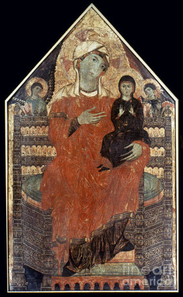 Painting - Saint Anne Enthroned by Granger