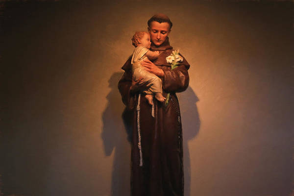 Sacred Heart Photograph - Saint Anthony by Donna Kennedy