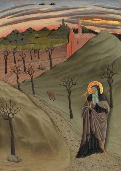 Painting - Saint Anthony The Abbot In The Wilderness by Osservanza Master