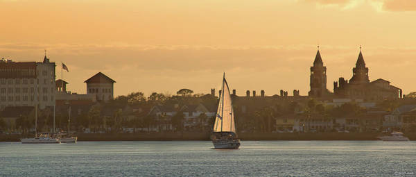 Photograph - Saint Augustine At Sunset Pano by Janal Koenig