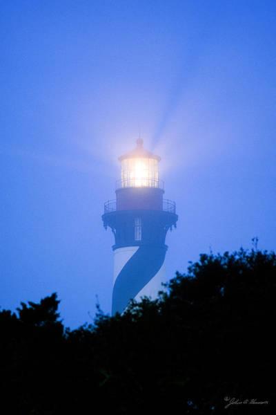 Saint Augustine Beach Wall Art - Photograph - Saint Augustine Lighthouse In The Fog by John Harmon