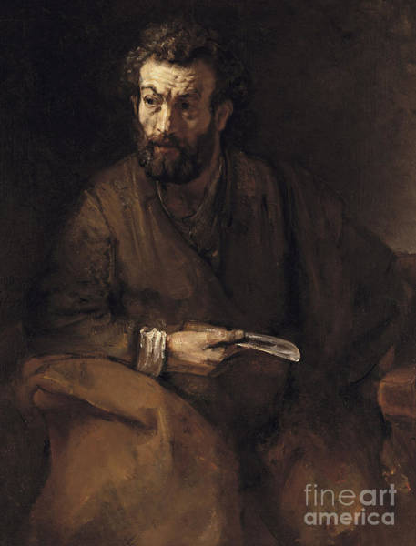 Wall Art - Painting - Saint Bartholomew, 1657 by Rembrandt