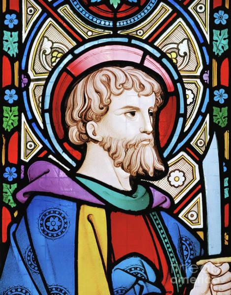Wall Art - Glass Art - Saint Bartholomew by Robert Turnill Bayne