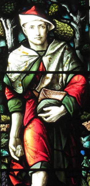 Glass Art - Saint Brelade Church  by Photographer Man Vyi