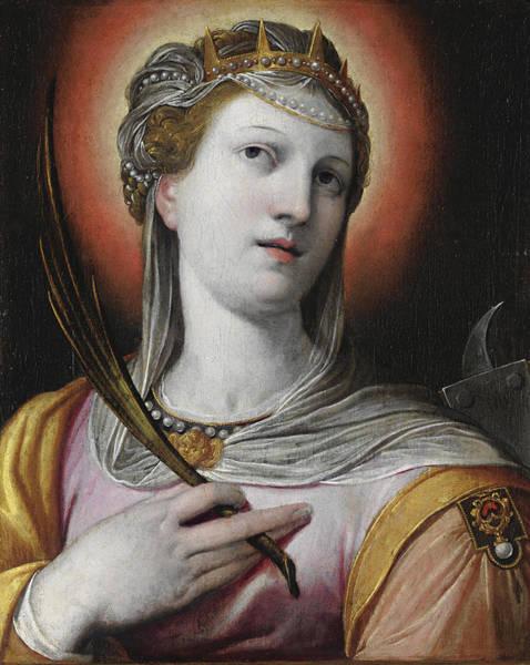 Procaccini Painting - Saint Catherine by Camillo Procaccini