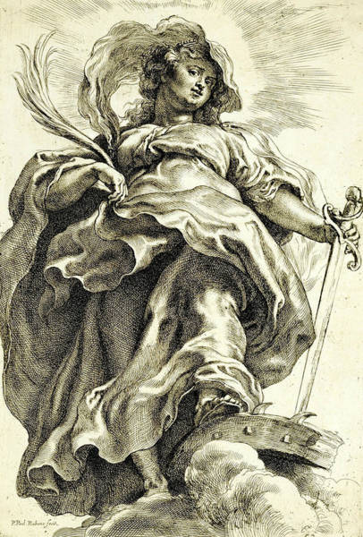 Relief - Saint Catherine In The Clouds by Peter Paul Rubens