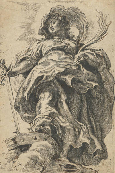 Relief - Saint Catherine Of Alexandria by Peter Paul Rubens