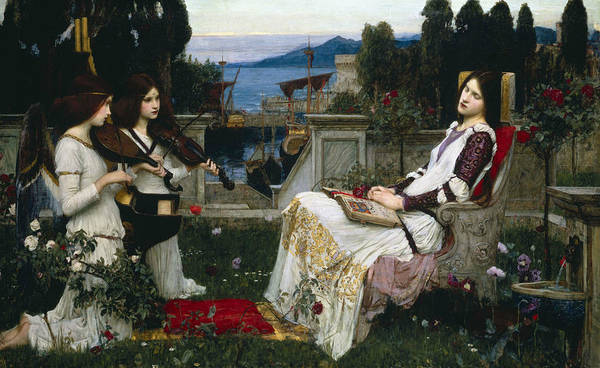 Painting - Saint Cecilia by John William Waterhouse
