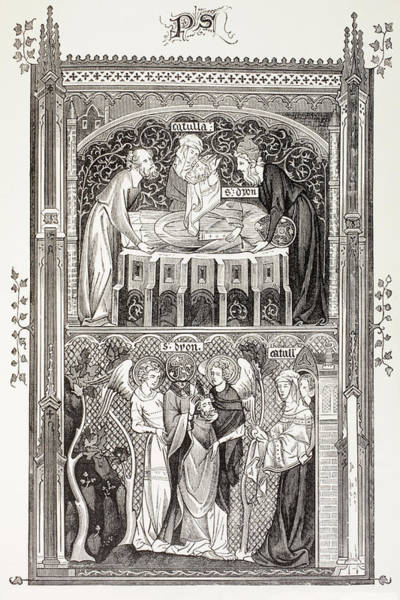 Wall Art - Drawing - Saint Denis  Also Called Dionysius by Vintage Design Pics