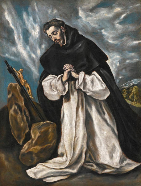 Painting - Saint Dominic In Prayer by El Greco