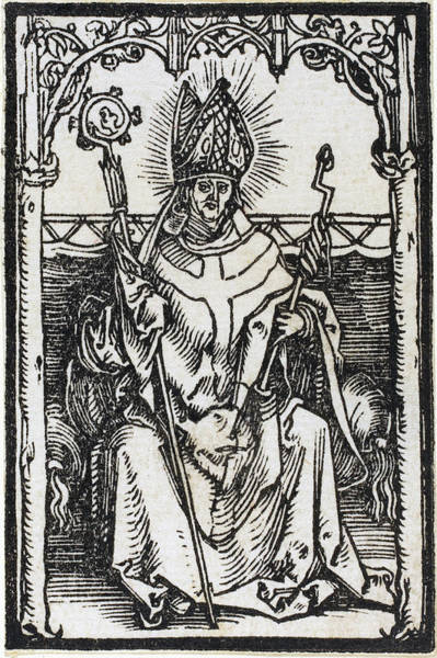 Drawing - Saint Erasmus by Albrecht Durer