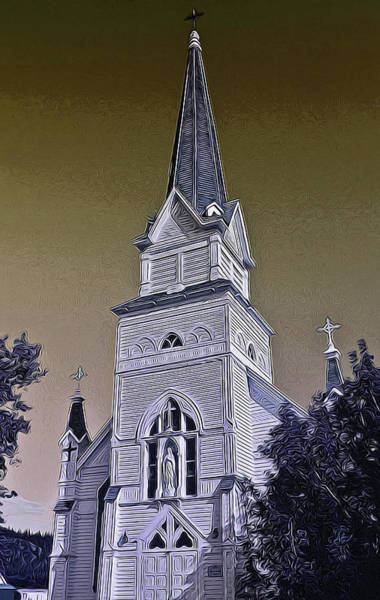 Digital Art - Saint Eugene's Church by Richard Farrington