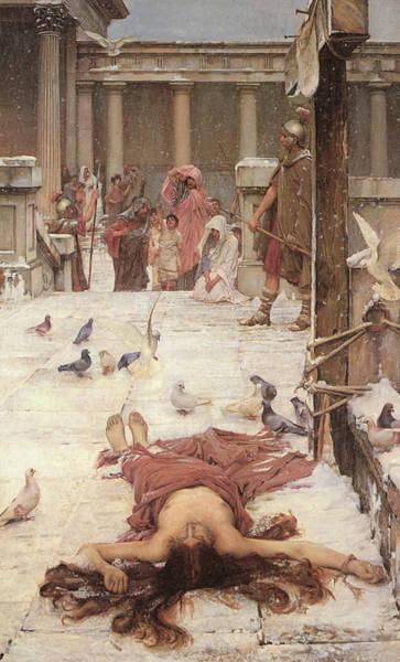 Painting - Saint Eulalia  by John William Waterhouse