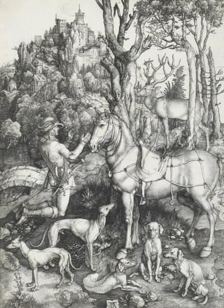 Albrecht Durer Wall Art - Relief - Saint Eustace by Albrecht Durer