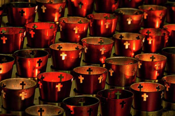 Photograph - Saint Francis Cathedral Votive Candles by Stuart Litoff