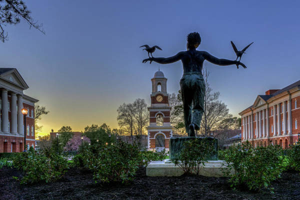 Photograph - Saint Francis On Campus by Jerry Gammon