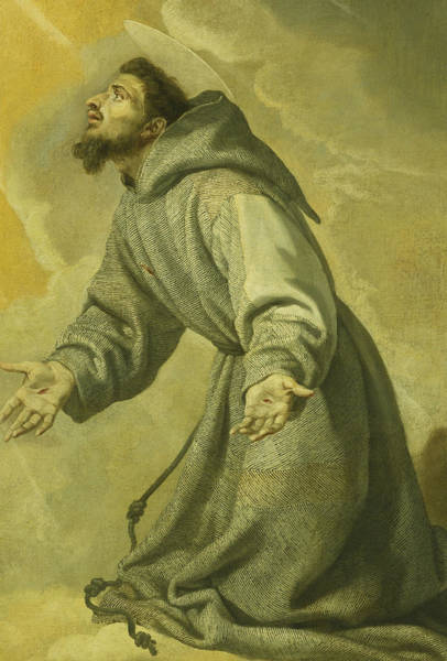 Assisi Painting - Saint Francis Receiving The Stigmata by Vicente Carducho