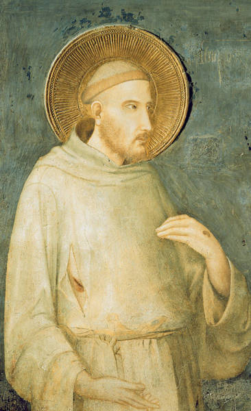 Assisi Painting - Saint Francis by Simone Martini