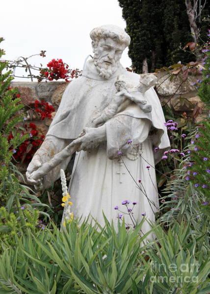 Photograph - Saint Francis Statue In Carmel Mission Garden by Carol Groenen