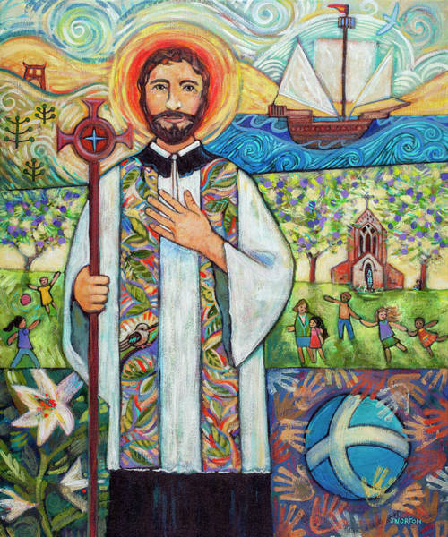 Wall Art - Painting - Saint Francis Xavier by Jen Norton
