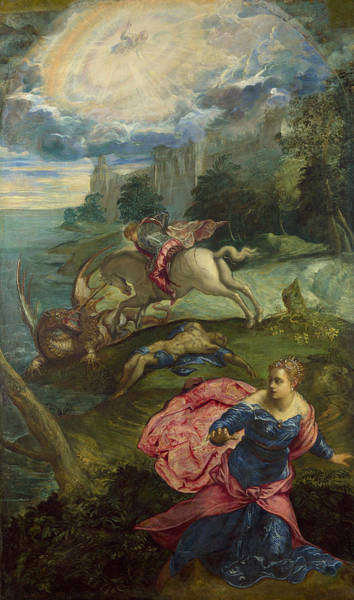 Painting - Saint George And The Dragon by Tintoretto