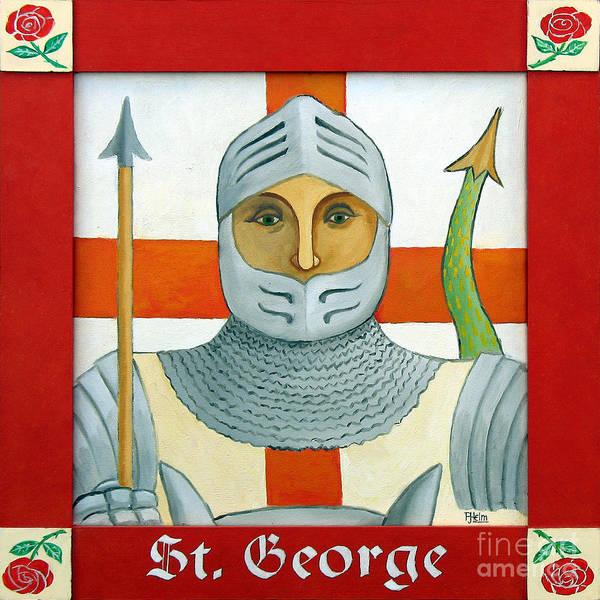 Helm Painting - Saint George by Paul Helm