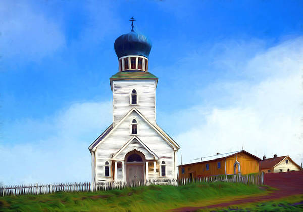 Photograph - Saint George Russian Orthodox Church, St. George Island - Remastered by Carlos Diaz