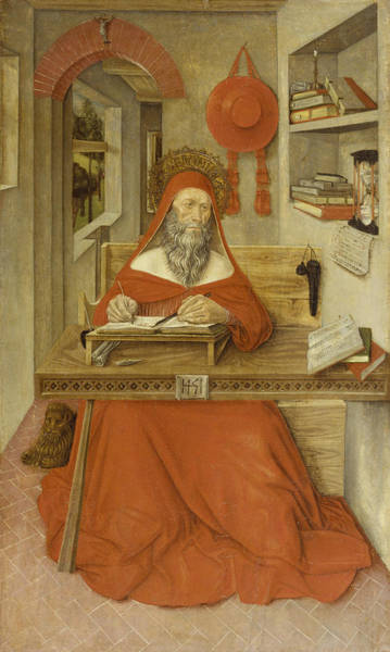 Renaissance Painters Wall Art - Painting - Saint Jerome In His Study by Antonio da Fabriano II