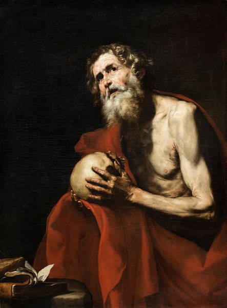 Indian God Painting - Saint Jerome Penitent by Jose de Ribera