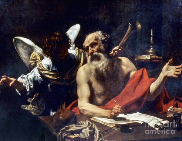 Painting - Saint Jerome & The Angel by Granger