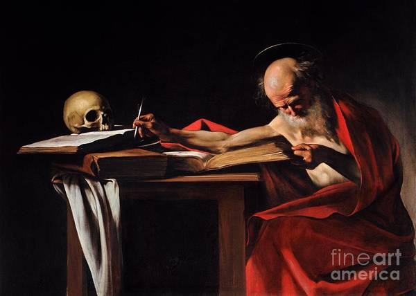 Wall Art - Painting - Saint Jerome Writing by Pg Reproductions