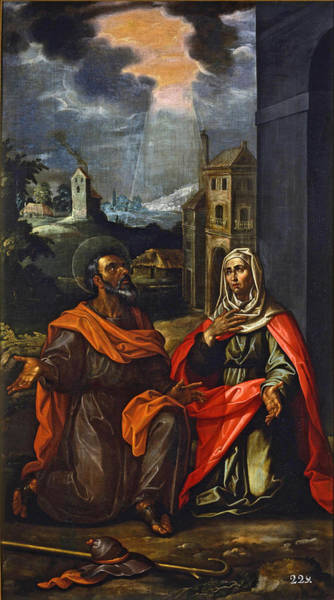 Saint Anne Painting - Saint Joachim And Saint Anne by Francisco Pacheco
