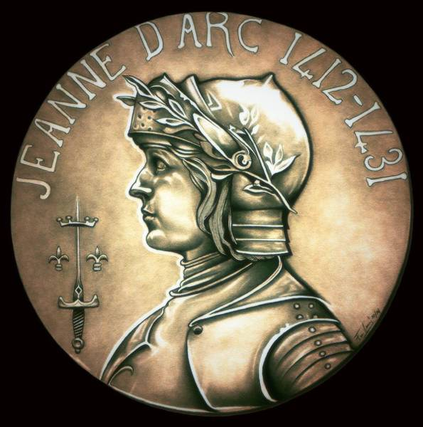 Drawing - Saint Joan Of Arc by Fred Larucci