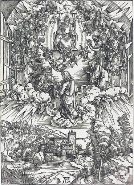 Drawing - Saint John Before God And The Elders by Albrecht Durer