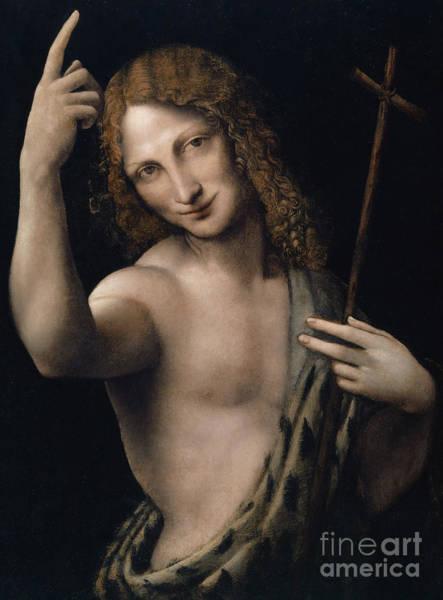 Wall Art - Painting - Saint John The Baptist,  Circa 1505 by Leonardo Da Vinci