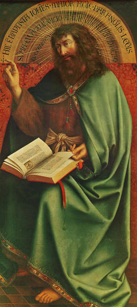 Wall Art - Painting - Saint John The Baptist   by Jan Van Eyck