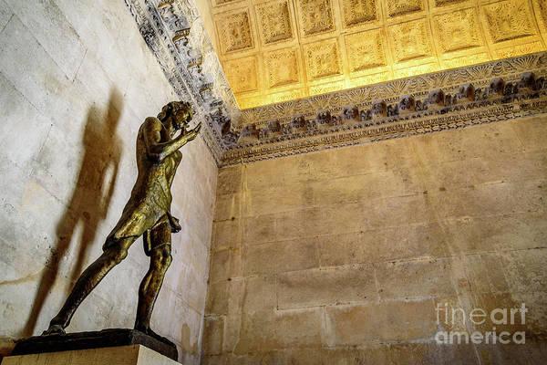 Photograph - Saint John The Baptist Scuplture Inside Jupiter's Temple, Diocletain's Palace, Split Croatia by Global Light Photography - Nicole Leffer