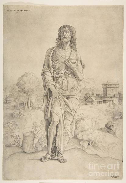 Painting - Saint John The Baptist Standing In Landscape by Celestial Images