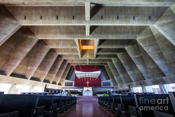 Photograph - Saint John's University Abbey Interior by Wayne Moran