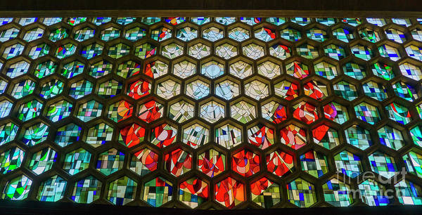 Governor Photograph - Saint John's University Abbey Stained Glass Magic by Wayne Moran