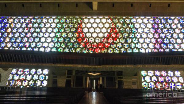 Photograph - Saint John's University Abbey That Amazing Stained Glass by Wayne Moran
