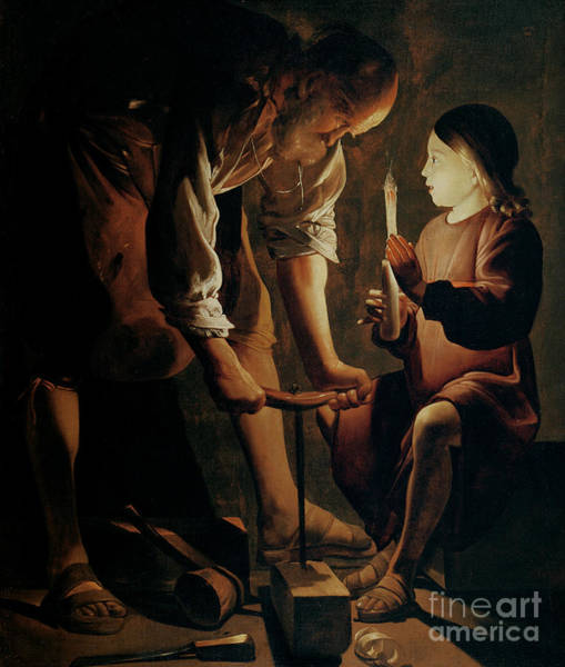Saint Painting - Saint Joseph The Carpenter  by Georges de la Tour