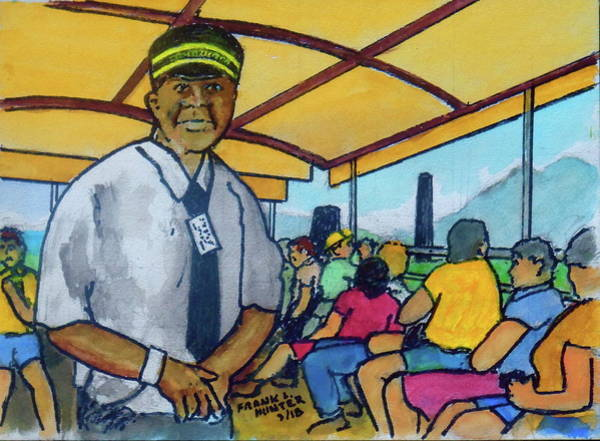 Painting - Saint Kitts Train Ride by Frank Hunter